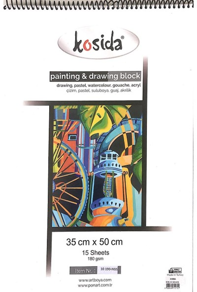 Kosida Painiting Drawing Blok 180Gr 35 x 50 15 Yp. Grenli Kağıt