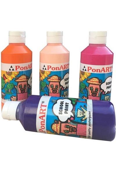 Ponart School Paint Okul Boyası 250 Ml. Açık Kırmızı