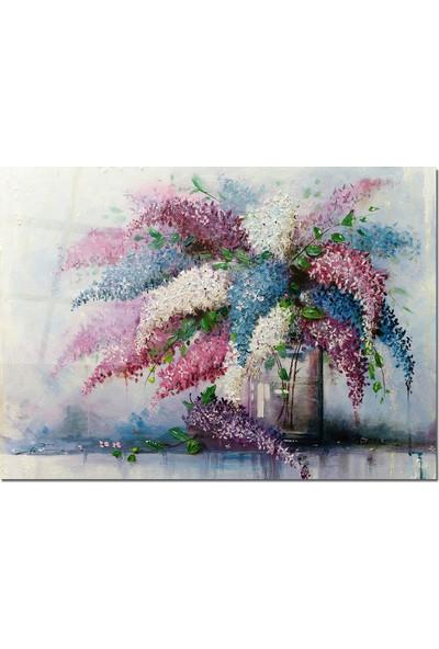 Disegno Cam Tablo Çiçekli Tablo 50 x 70 cm Uv Baskı Temperli