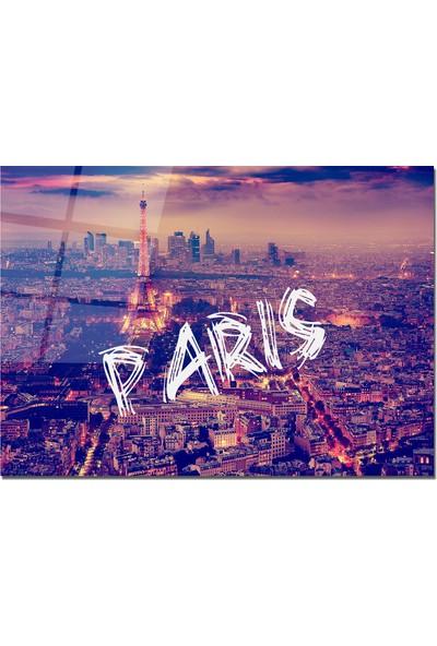Disegno Cam Tablo Paris Tablo 50 x 70 cm Uv Baskı Temperli