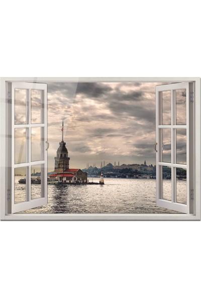 Disegno Cam Tablo Pencere Tablo 50 x 70 cm Uv Baskı Temperli