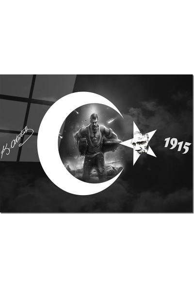 Disegno Cam Tablo Seyit Onbaşı 50 x 70 cm Uv Baskı Temperli