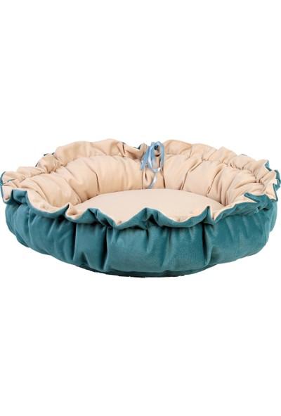 Renkli Ev Tasarım İspanyol Model 100 x 100 cm Kedi - Köpek Yatağı