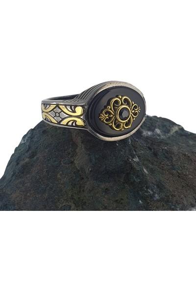 Dalman Silver Taşlı Özel Koleksiyon Gümüş Erkek Yüzüğü