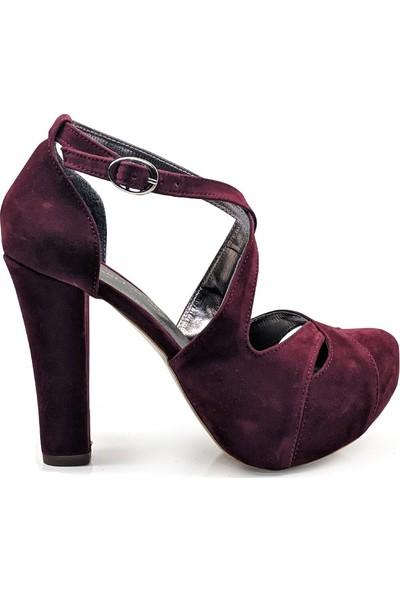 BB Shoes Altea Abiye Bordo Renk