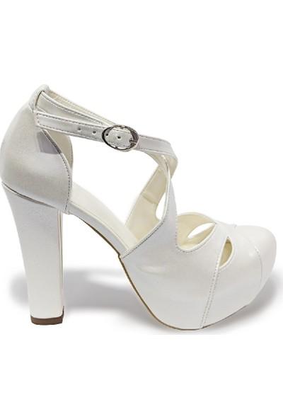 BB Shoes Altea Düğün Sedef Beyaz