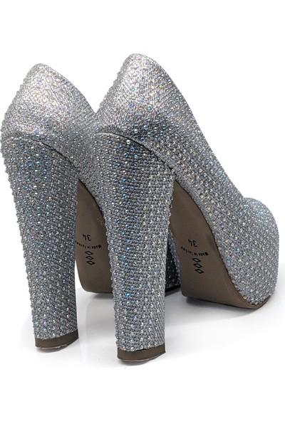 BB Shoes Monrea Abiye Lame (Gümüş) Renk