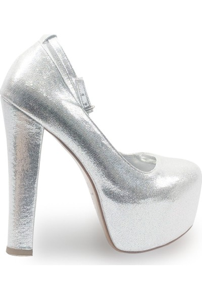 BB Shoes FLORA Abiye Lame - Gümüş