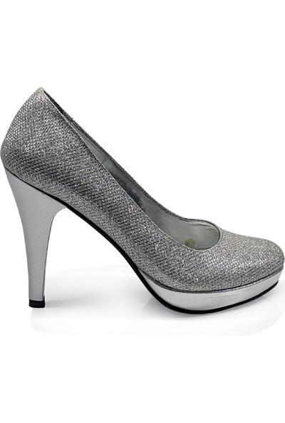 BB Shoes Divina Abiye Lame (Gümüş) Renk