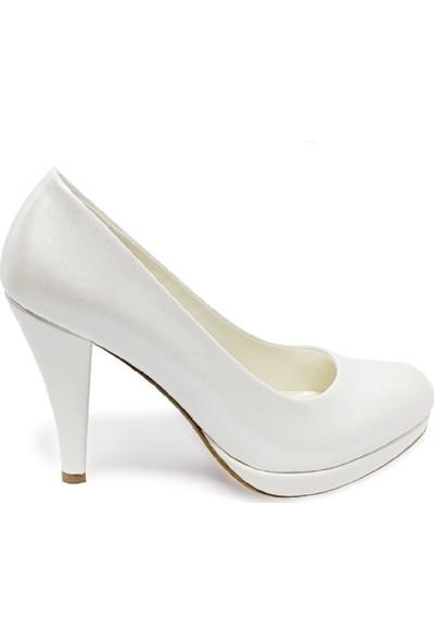 BB Shoes Divina Abiye Beyaz Renk