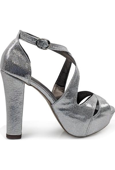BB Shoes Aria Abiye Lame (Gümüş) Renk