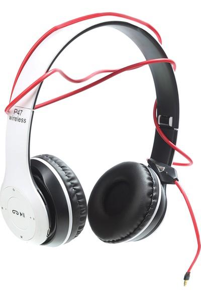 Dost P-47 Wireless Kablosuz Bluetooth Kulak Üstü Kulaklık Beyaz