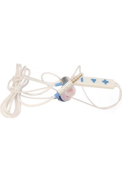 Blue Spectrum BM-818 Kulakiçi Mikrofonlu Kulaklık - Beyaz