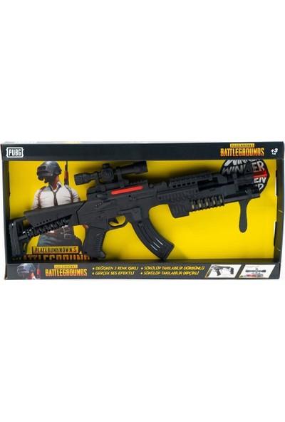 Pubg Sesli Işıklı Komando Tüfeği Siyah