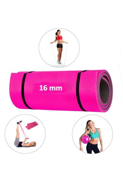 Spor Byfit 4 Parçalı Pembe Pilates Seti ( Minder + Denge Topu + Bant + Atlama Ipi ) MND-784