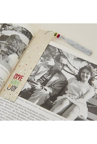 Sihirli Semboller Love Peace Sembollü Kitap Ayracı