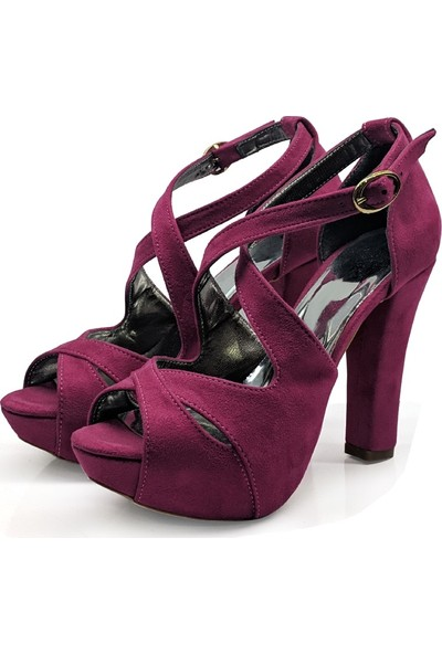 BB Shoes Aria Abiye Fushia Renk