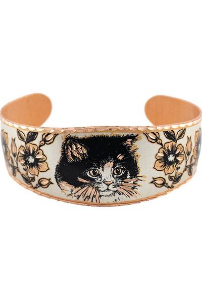 Lotis Cat Jewelry Bakır Bilezik