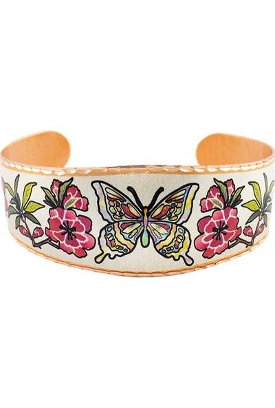 Lotis Colorful Handcrafted Bakır Bilezik