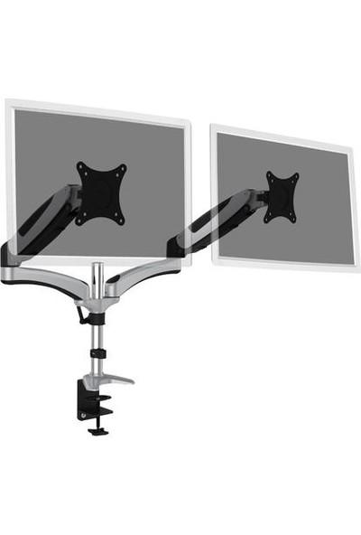 Digitus Çift Ekran Taşıyabilen Askı Aparatı - Gaz Basınçlı Yaya Sahip