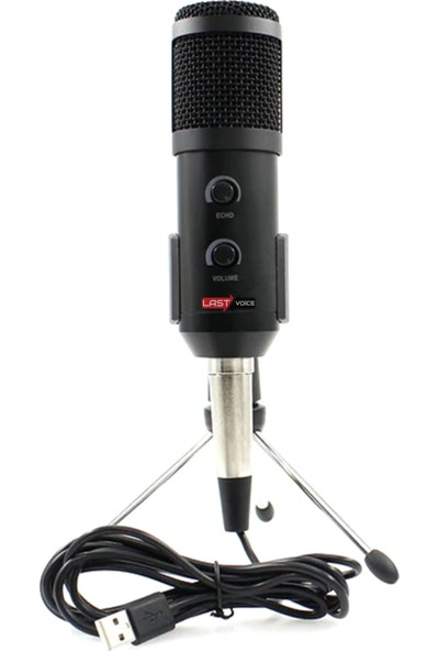 Lastvoice BM300 Usb Tak Çalıştır Condenser Mikrofon + Masa Stand