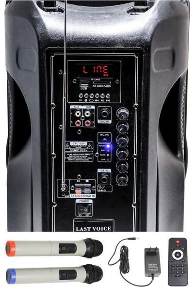 Lastvoice Ls 1912 Taşınabilir Mikrofonlu Seyyar Ses Sistemi 200W
