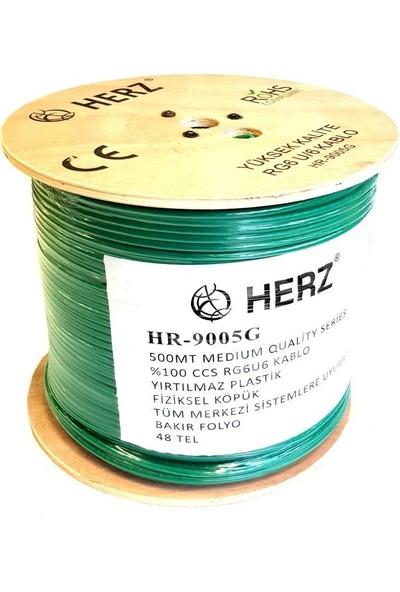 Antenci Herz RG6U6 Uydu Anten Kablosu 48TEL Yeşil 500 mt