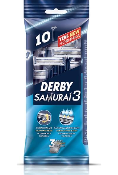 Derby Samurai 3 Bıçaklı 10'lu Poşet x 2 Adet