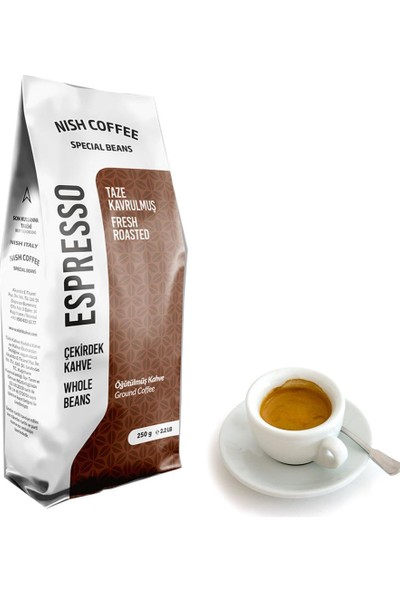 Nish Kahve Espresso Italy Kahve 250 gr