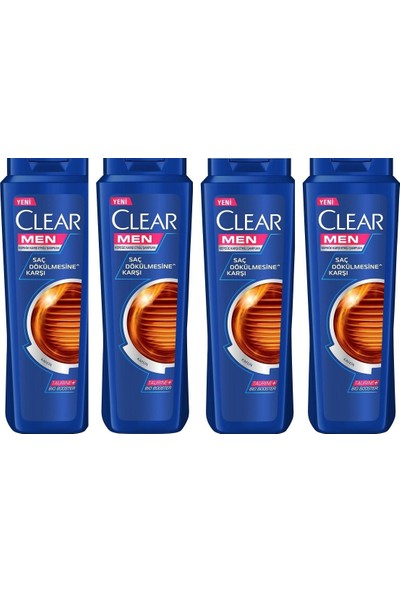 Clear Men Saç Dökülmesine Karşı Etkili Şampuan 500 ml 4 Adet