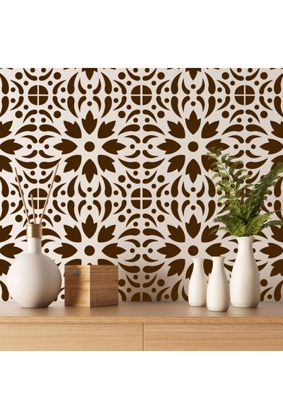 Artikel Çiçek Karo Stencil Tasarımı 30 x 30 cm