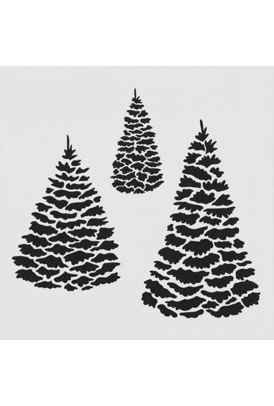 Artikel Evergreen Stencil Tasarımı 30 x 30 cm