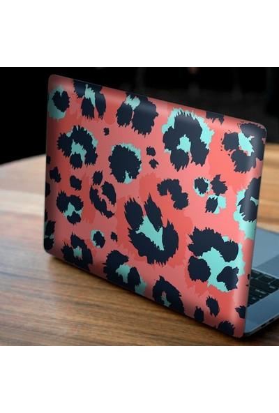 Artikel Pembe Mavi Leopar Deseni Notebook Sticker