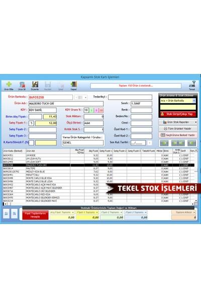DemirSoft Barkodlu Tekel Büfe Satış Programı Demirsoft