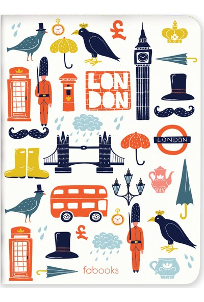 Fabooks Icons Of London Mini Defter