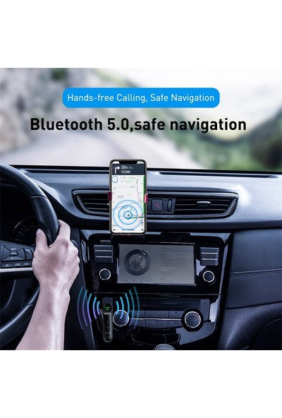 Schulzz Baseus Araba Aux Bluetooth 5.0 Adaptör 3.5mm