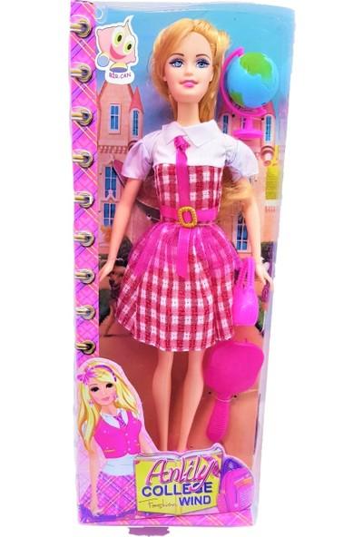 Bircan Anlily College Wind Aksesuarlı Barbie Bebek