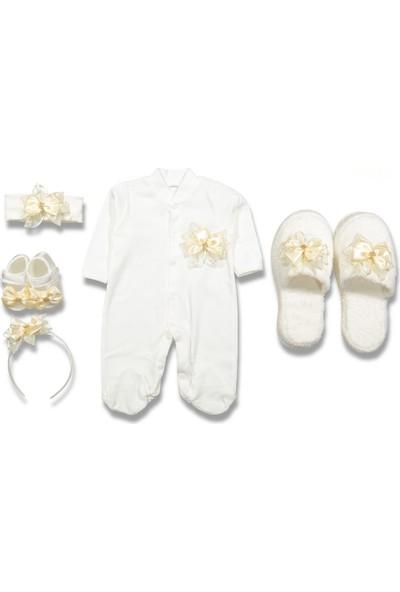 Monello Kız Bebek Sarı Lohusa 5'li Set