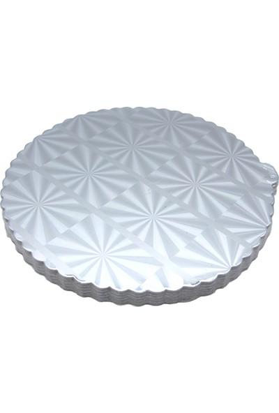 Elitparti Gümüş Parlak Yaldızlı Pasta Altlığı (32 cm)