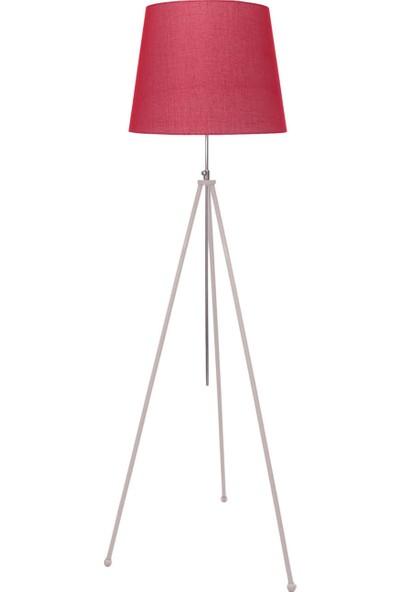 Umur Aydınlatma Tripod Beyaz Ayak Kırmızı Şapkalı Lambader
