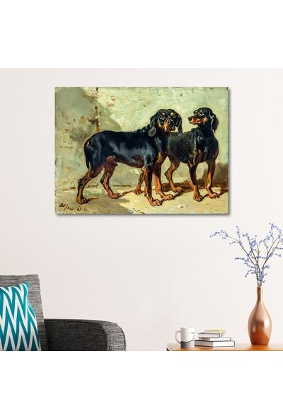 Çerçevelet Siyah Köpekler 35 x 25 cm