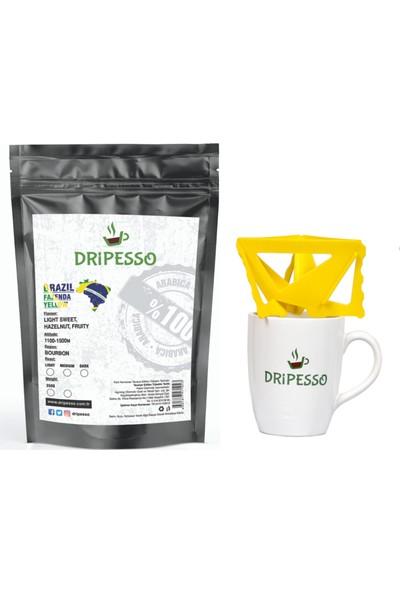 Dripesso Brazil Fazenda Yellow Filtre Kahve 250g / Bardak ve Demleme seti ile Fırsat Paketi