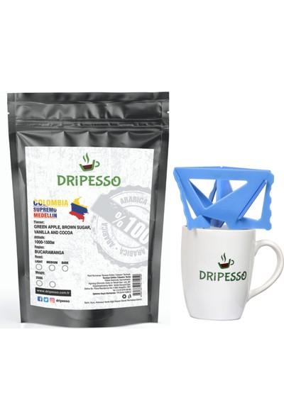 Dripesso Colombia Supremo Filtre Kahve 250g / Bardak ve Demleme seti ile Fırsat Paketi