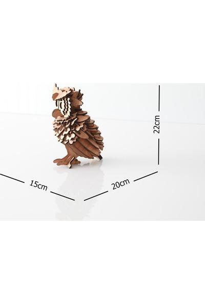 Emodello Dekoratif Ahşap Baykuş Maketi