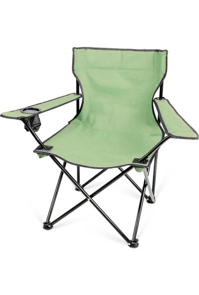 Bidesenal 120 kg Katlanır Taşıma Çantalı Kamp Sandalyesi Yeşil Renkli Piknik Sandalyesi