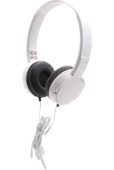 Dost J-08 Kablolu Mikrofonlu Kulaküstü Kulaklık Beyaz