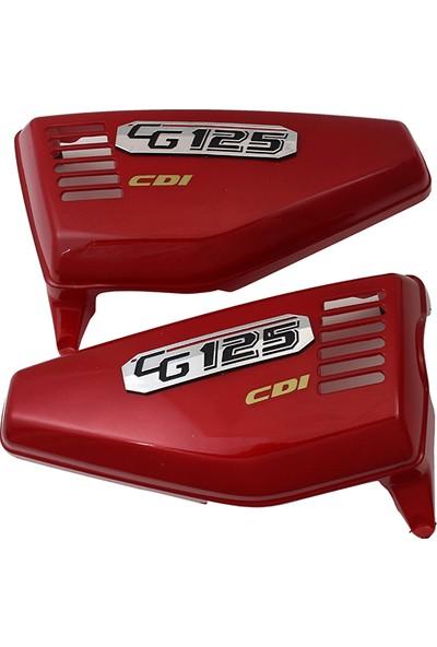Cg 125 Kırmızı Yan Kapak Takımı