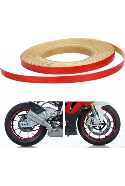 Motosiklet Kırmızı Jant Şeridi