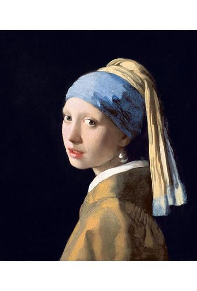 Çerçevelet İnci Küpeli Kız - Girl with a Pearl Earring 25 x 30 cm
