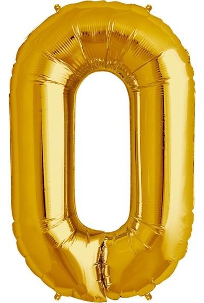 Buldum O Harfi Altın Gold Folyo Balon Harf 100 cm